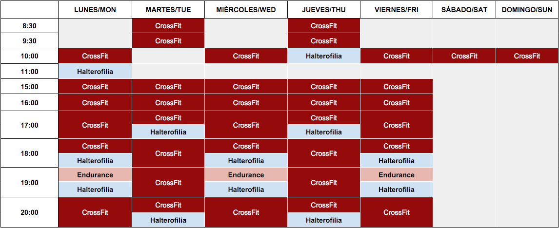 crossfit mallorca horario 4
